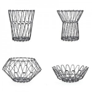Folding basket M – zwart