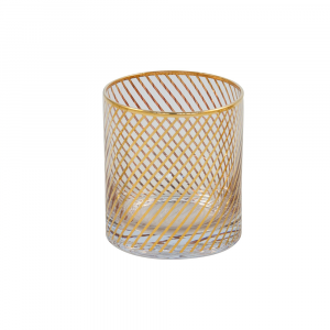 Candleholder votive-stripe