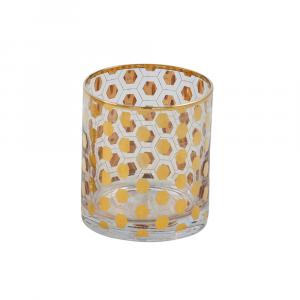 Candleholder votive-hexagonal