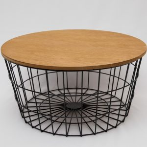 Round table/basket black wireframe